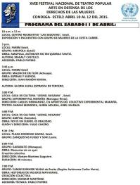 XVIII Festival Nacional de Teatro Popular Nicaragua