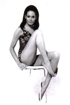 Martine Beswick.