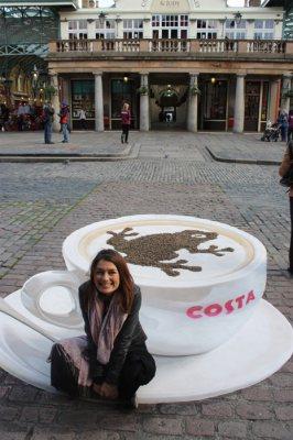 Publicidad en Pinturas 3D - Publicidad Café Costa