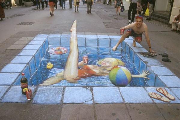 Publicidad en Pinturas 3D - Publicidad Coca Cola
