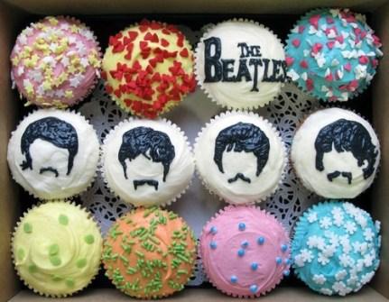 Cupcakes de los Beatles
