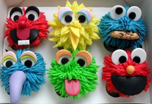Cupcakes Barrio Sésamo