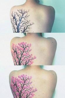 Tatuajes con flores de cerezo