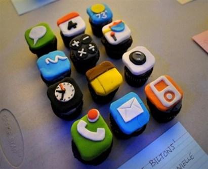 Cupcakes de Iphone