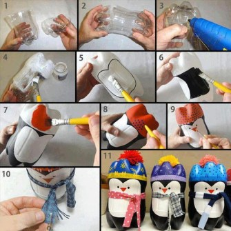 DIY - Pingüinos decorativos