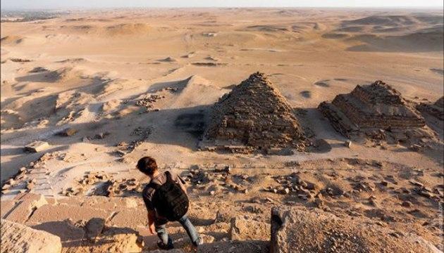 Imágenes exclusivas desde la cima de las Pirámides de Egipto.