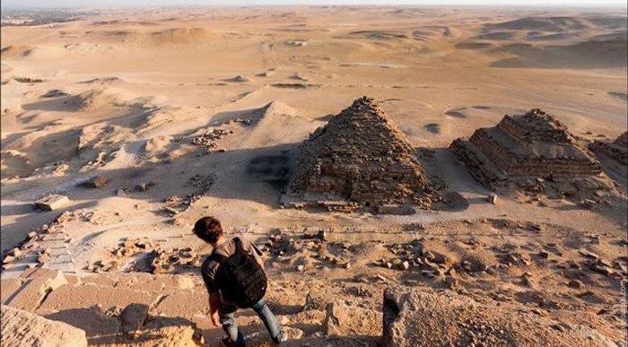 Fotos furtivas desde la cima de las Pirámides de Egipto