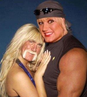 Montajes fotográficos - Hulk Hogan con su esposa