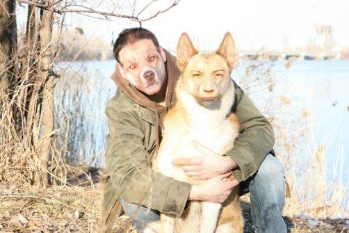 Montajes fotográficos - Chico con su perro