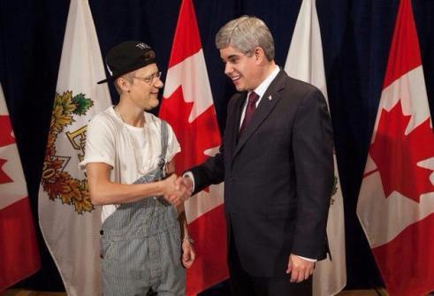 Montajes fotográficos - Justin Bieber con el primer Ministro de Canadá