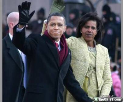 Montajes fotográficos - Obama con su mujer Michelle