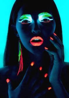 Neón y colores flúor - Maquillaje flúor