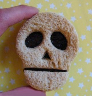 Meriendas creativas - Sandwiches de Calavera
