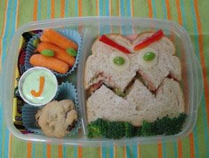 Meriendas creativas - Sandwiches divertidos