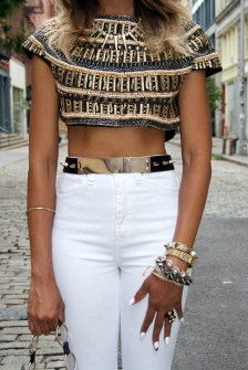Crop Top con dorados