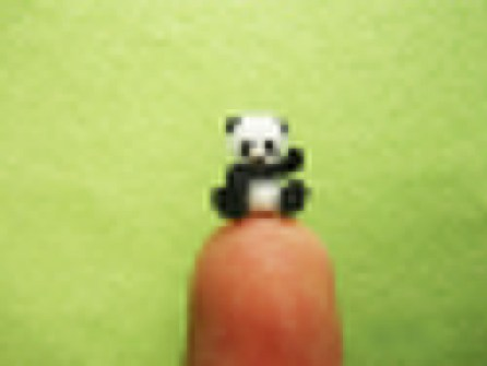 Amigurumi miniaturas - Oso Panda