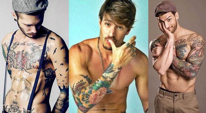 Chicos guapos Tatuados.