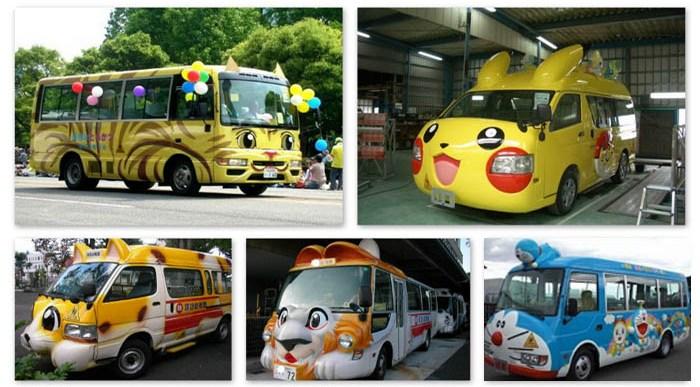 ¿Habías visto Autobuses Escolares como estos?