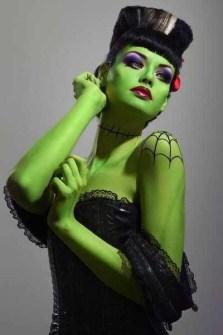 Maquillaje para Halloween novia Frankenstein