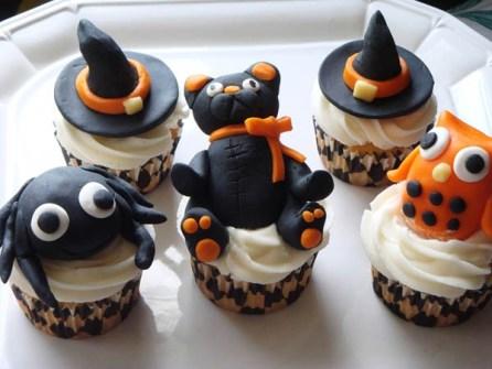 Cupcakes para Halloween con animales