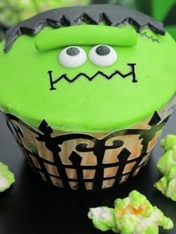 Cupcakes para Halloween de Frankenstein