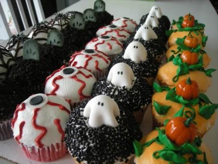 Cupcakes para Halloween monstruosas