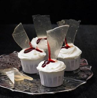 Cupcakes para Halloween sangrientas