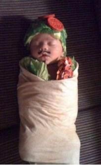 Disfraces originales para bebés - Disfraz Wrap Vegetal