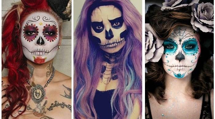 Chicas guapas con Maquillaje para Halloween.