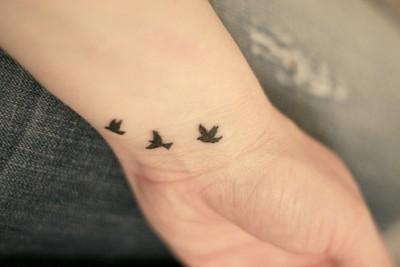 Mini Tatuajes con Pájaros