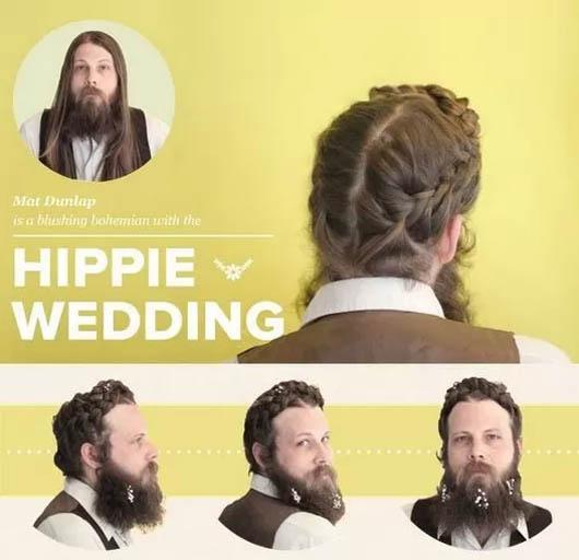 Peinado estilo Hippie