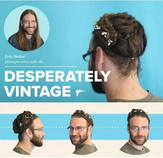 Recogido Vintage algo más Hippie