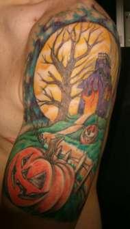 Tatuajes para Halloween con Calabazas
