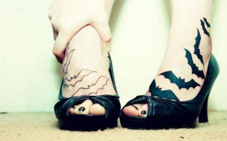 Tatuajes con Murciélagos