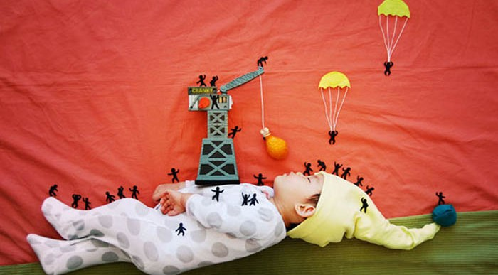 Aventuras Infinitas de este Bebé gracias a la Creatividad de su Madre.