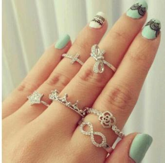 Mini anillos o Knuckle rings con formas