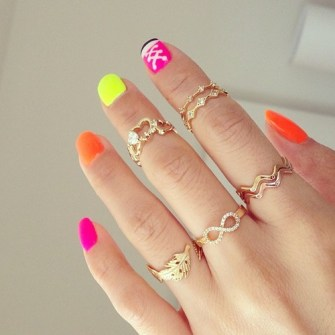 Mini anillos o Knuckle rings infinito