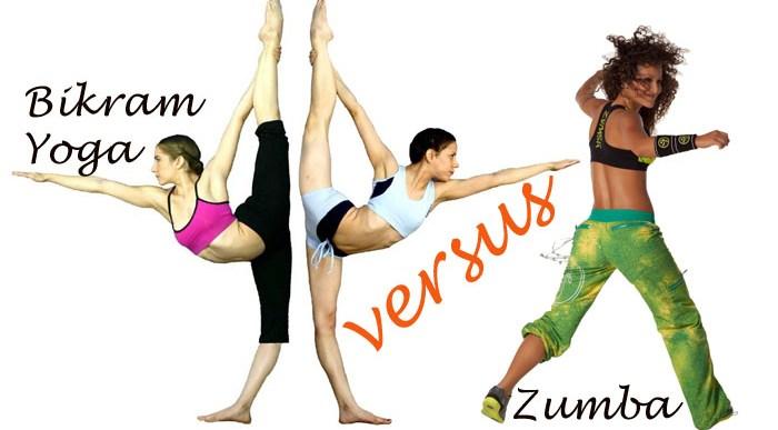 Bikram Yoga versus Zumba.