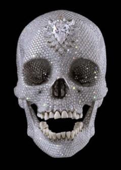 Obra de Damien Hirst  con Cristales de Swarovski