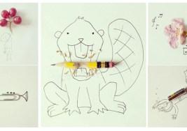 24 Ilustraciones ingeniosas con parecidos razonables.