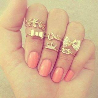 Midi rings con lazos muy Girly