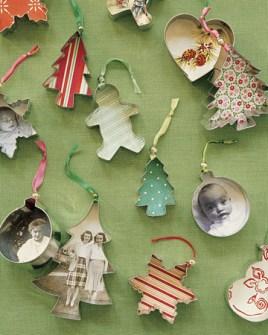 15 Adornos de Navidad que puedes hacer con tus hijos - Adornos de Navidad con moldes de galletas