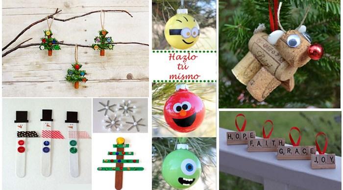 15 Adornos de Navidad que puedes hacer con tus hijos.