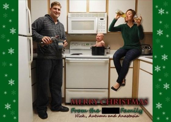 18 Felicitaciones de Navidad Creativas y Divertidas - Felicitaciones macabras