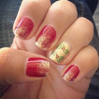 Ideas para Decorar Uñas en Navidad - Uñas con efecto glitter