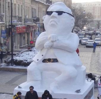 Muñecos de Nieve Divertidos y Originales - Muñecos de nieve PSY