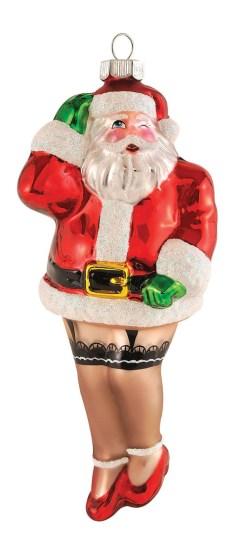 10 Adornos de Navidad que destruirán tu Espíritu Navideño - Santa Claus travesti