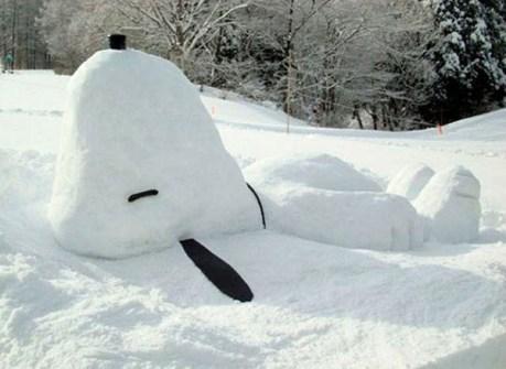 Muñecos de Nieve Divertidos y Originales - Snoopy