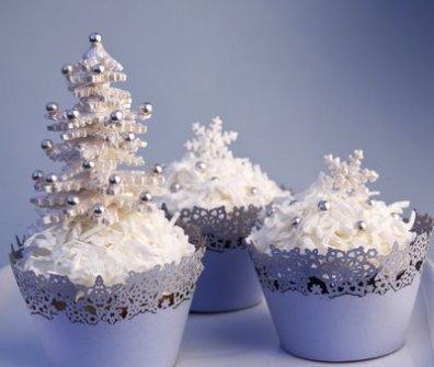 Christmas Cupcakes - Snowballs cupcakes