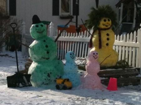 Muñecos de Nieve Divertidos y Originales - Muñecos de nieve de colores